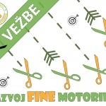 Vežbe za razvoj fine motorike- Sečenje makazama - Naslov